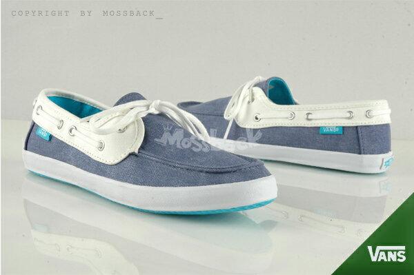 『Mossback』VANS CHAUFFETTE 帆船鞋 SURF系列 特殊鞋墊 藍白(女)NO:41062125