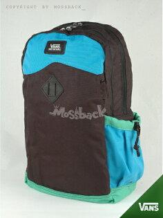 『Mossback』VANS AUTHENTIC II SKATEP 後背包 休閒 豬鼻 拼色 筆電 黑藍綠NO:462411GN