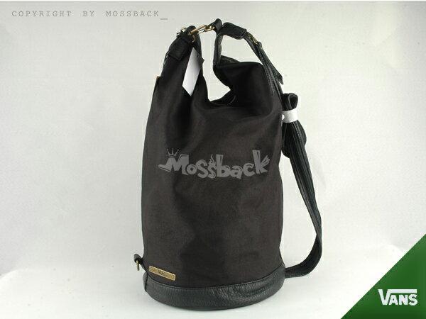 『Mossback』VANS G ADORA SATCHEL 後背包 線肩 皮革 筒包 黑色NO:462434BK