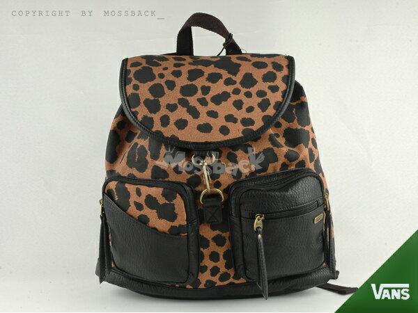 『Mossback』VANS ROZELLE BACKPACK 後背包 雙肩 豹紋 咖啡黑NO:462446BKDT