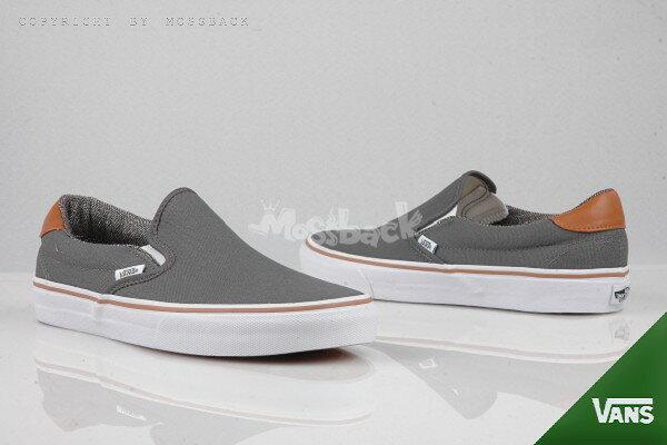『Mossback』VANS SLIP-ON 59 懶人鞋 復古 後皮革 灰色(男)NO:51012702