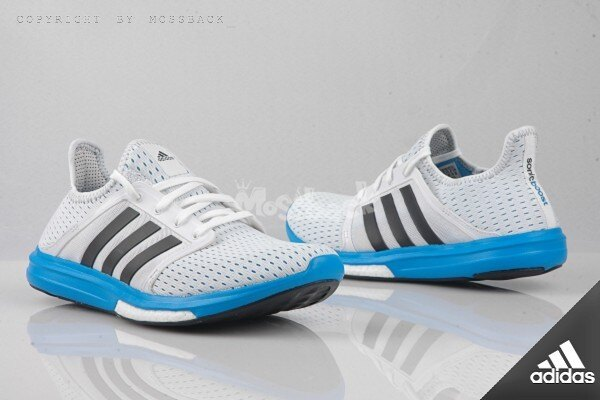 『Mossback』ADIDAS CC SONIC BOOST M 輕量 慢跑鞋 襪套 白藍(男)NO:B44079