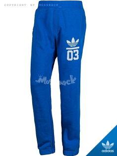 『Mossback』ADIDAS FOIL TP LOGO 運動 長褲 棉褲 藍色(男)NO:M30319