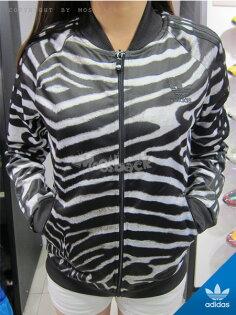 『Mossback』ADIDAS ZEBRA TRACK JACKET 立領 外套 斑馬 黑白(女)NO:M30954