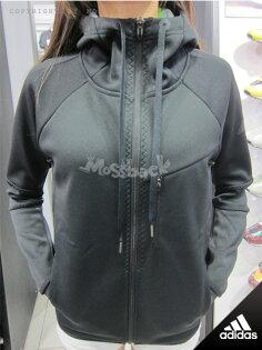 『Mossback』ADIDAS SPO FLEECE 連帽 外套 黑色(女)NO:M67076