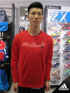 『Mossback』ADIDAS BASIC PERF LOGO 長袖 T恤 上衣 紅色(男)NO:M68917