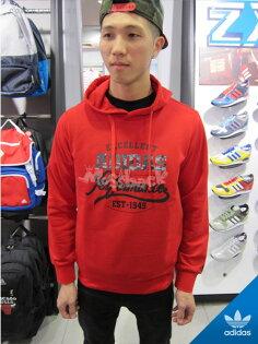 『Mossback』ADIDAS G HOODY 1 連帽 帽T 紅色(男)NO:S16021