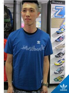 『Mossback』ADIDAS 25 BY NIGO 大LOGO 短T 藍色(男)NO:S24487