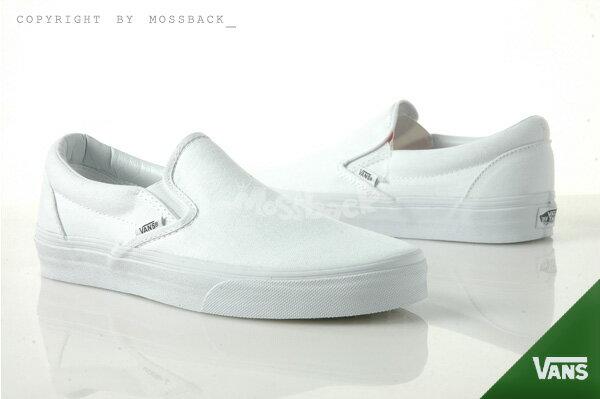 『Mossback』VANS SLIP-ON 懶人鞋 復古 基本款 百搭 全白NO:C478039