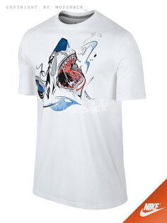 『Mossback』NIKE JORDAN AJ VII FINS OF PREY 短T 鯊魚 白色(男)NO:677870-100