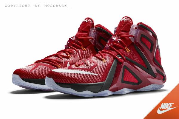 『Mossback』NIKE LEBRON XII ELITE 籃球鞋 熱熔岩 紅色(男)NO:724559-618