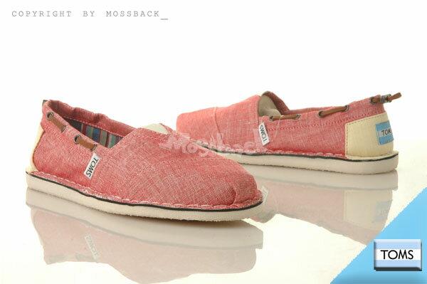 『Mossback』TOMS  帆布 休閒 平底 帆船鞋 馬克粉(女)NO:002157B12RDKCH