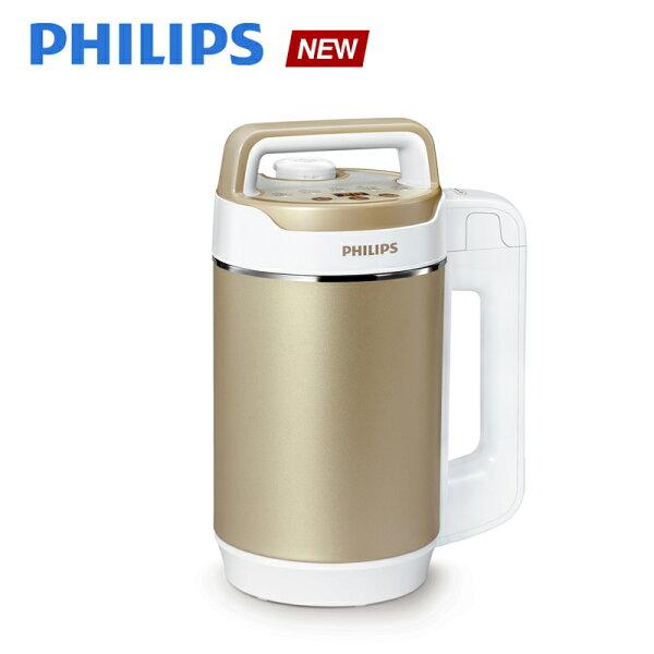 預購【飛利浦 PHILIPS】免濾金營養料理機(HD2089)送厚片烤麵包機(HD2595)