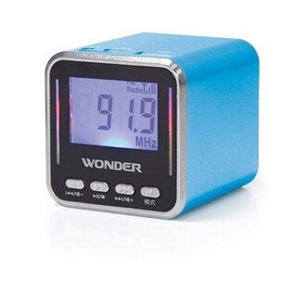 旺德USB/MP3/FM喇叭藍 WS-P002 旺德USB/MP3/FM 隨身音響-藍色