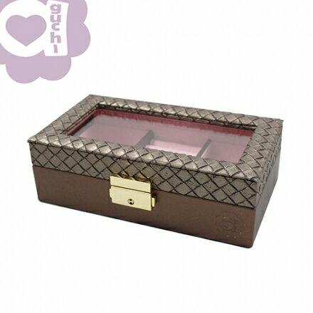 【Aguchi 亞古奇】編織公主-耀眼棕 珠寶盒~微小 NG款 優惠價61折免運費01 1