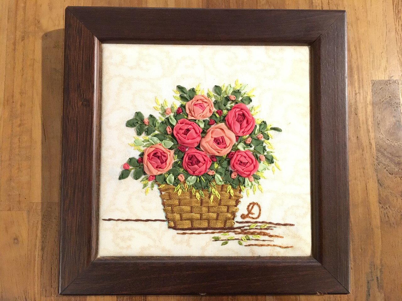 DIY手作-緞帶刺繡材料包(蜻蜓與花) 4
