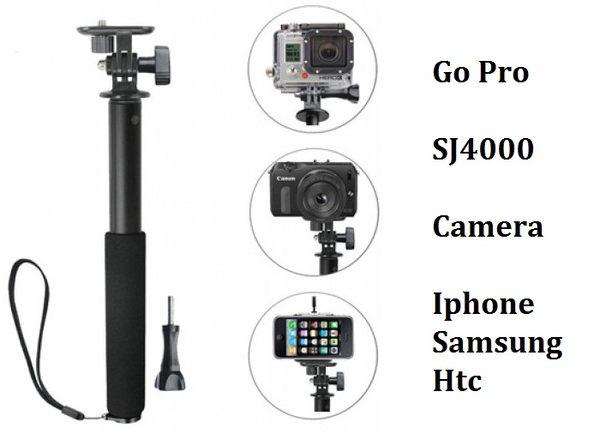 專業自拍桿 GoPro Sj4000 手機 相機 行車記錄器 專用自拍器 Go Pro 狗三 山狗 自拍棒