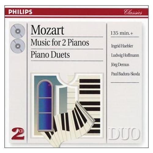莫札特 雙鋼琴作品k448 專輯CD Mozart Music for 2 Pianos 福茂古典鋼琴賦格行板與變奏(音樂影片購)