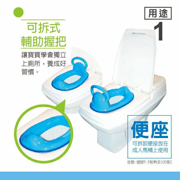 『121婦嬰用品館』PUKU 5合1便器 - 藍 3