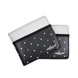 REMATCH - Matchwood Positive 皮夾 錢包 短夾 錢夾 卡夾 反光圓點皮料黑款 Herschel / master-piece / HEADPORTER 可參考