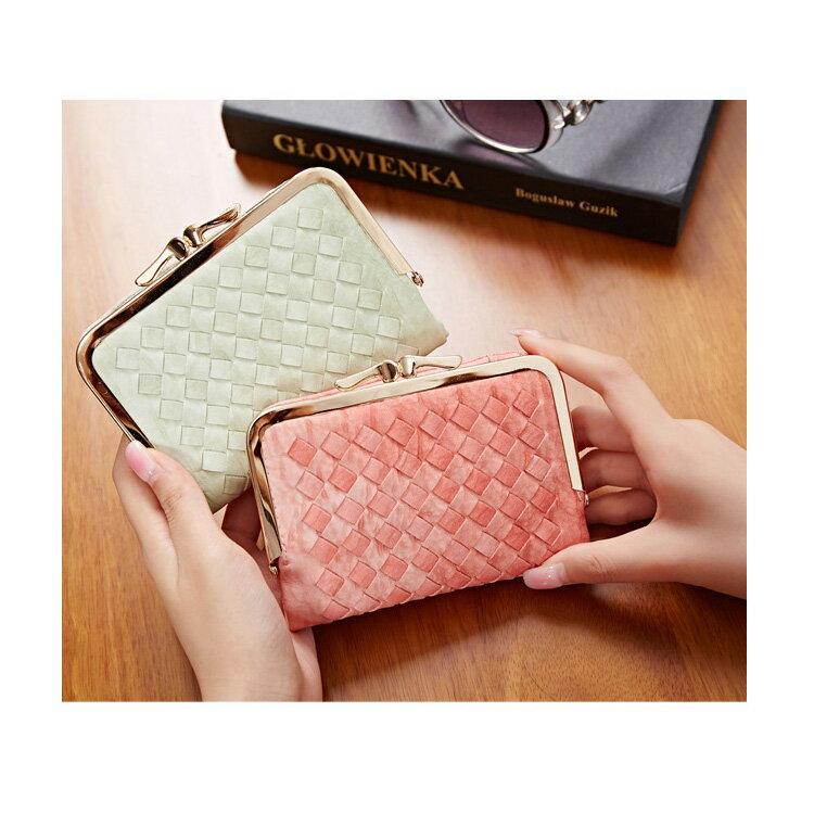 短夾 邊織雙珠扣皮夾卡包錢包短夾【WNB510-6B】 BOBI  12/01 1