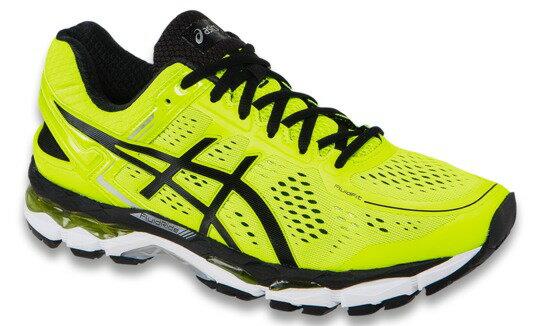 [陽光樂活] ASICS 亞瑟士 男慢跑鞋 GEL-KAYANO 22  T547N-0790  螢光黃x 黑