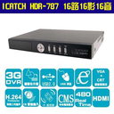 【i-speedmark】HDR787 16路 H.264 DVR數位錄影機/監視器材(VGA/網路/16聲音/滑鼠/USB/遙控/iPhone/3G手機監看/ICATCH