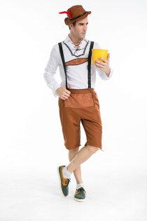 德國啤酒節服裝萬聖節歐美cosplay制服男款角色扮演halloween
