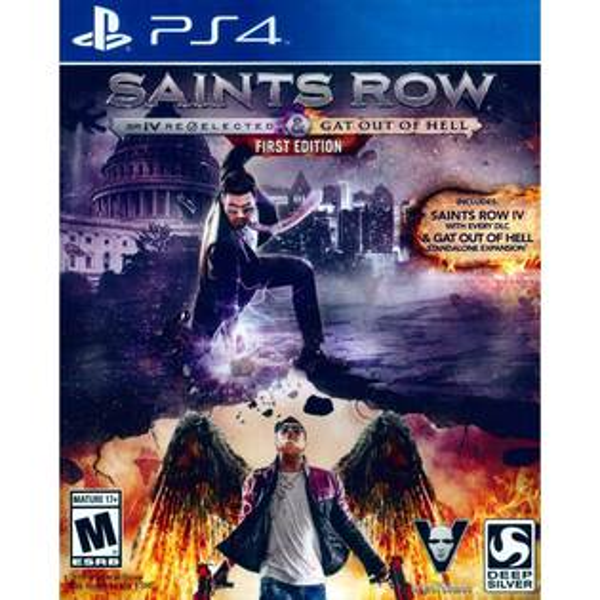 PS4 黑街聖徒 4:再次當選+逃出地獄 第一版 英文版 Saints Row IV