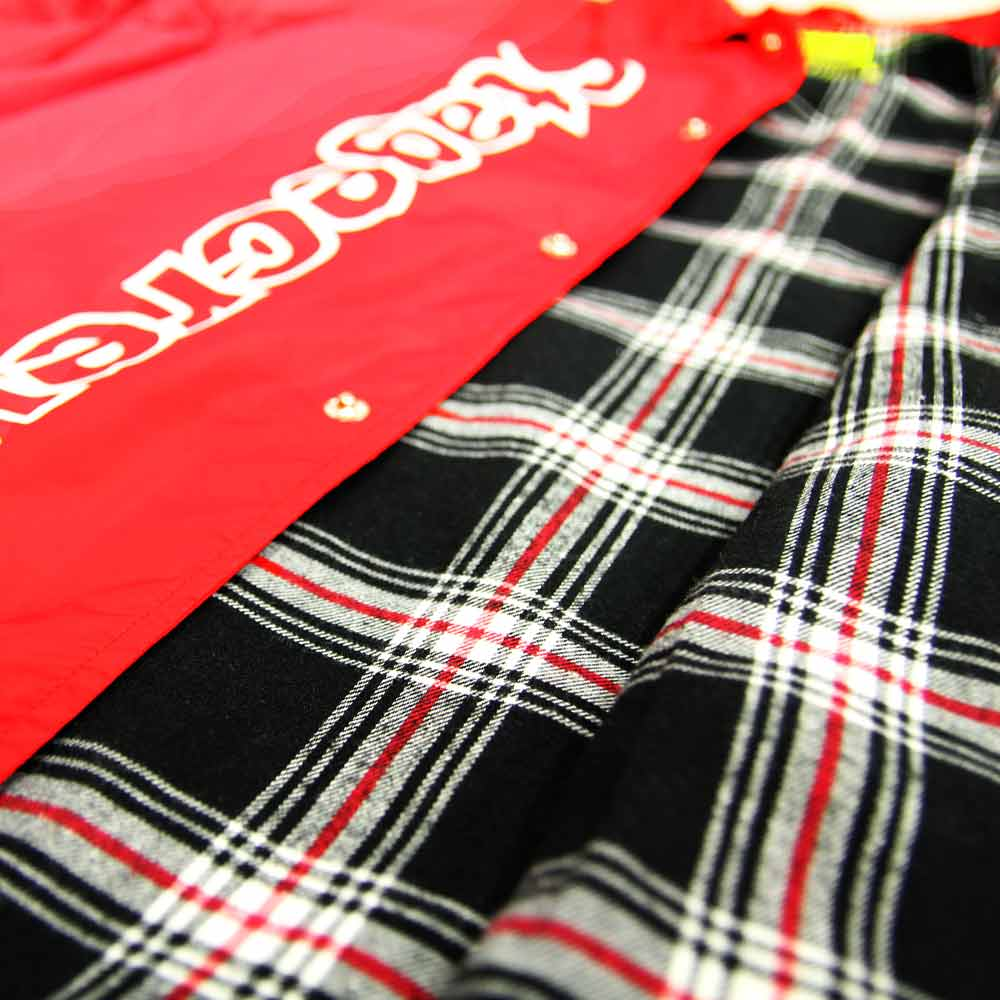 STAGE CREW COACH JACKET 黑色 / 紅色 9