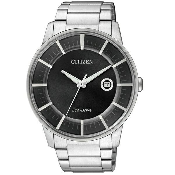 CITIZEN星辰AW1260-50E都會潮流光動能腕錶/黑面42mm