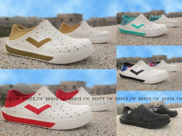 《限時特價79折》Shoestw【62U1SA】PONY 洞洞鞋 可踩跟 新款 懶人拖 2016 全新配色 輕便防水拖鞋 五色