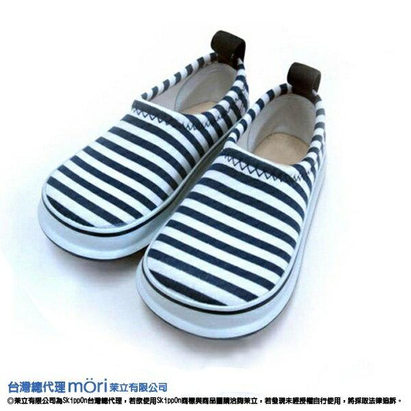 日本熱賣SkippOn幼兒戶外機能鞋-藍白條紋