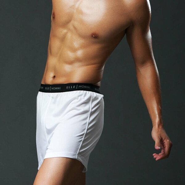 ELLE HOMME吸濕排汗平口褲/男內褲-白 1件【中揚精品】E8404-P-White