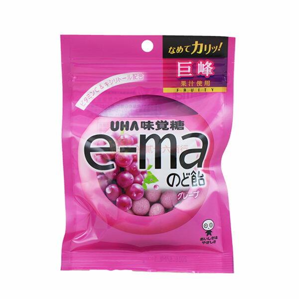 有樂町進口食品 味覺e-ma紅葡萄袋裝喉糖50g J45 4514062957388 - 限時優惠好康折扣