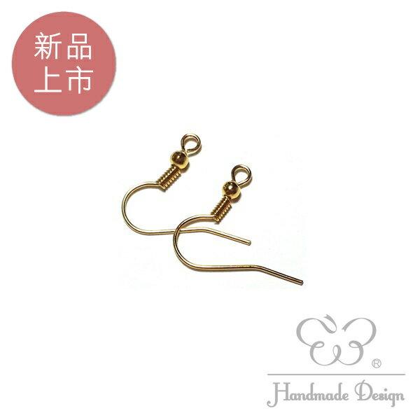 【60183】扁魚耳鉤-金色 (10對入)