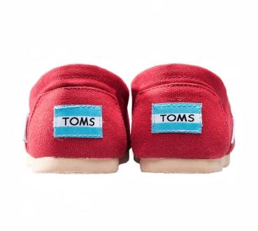 【TOMS】紅色素面基本款休閒鞋  Red Canvas Women's Classics 5