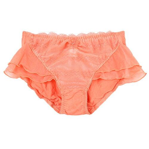 【 夢蒂兒】盛夏美波集中系列三角褲(粉橙) 1