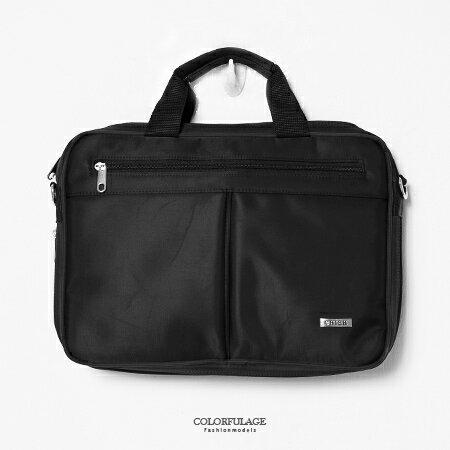 MIT手提包 型男品味時尚尼龍公事包.側背包 可放A4文件.小筆電 大容量設計 柒彩年代【NZ462】斜背包 0