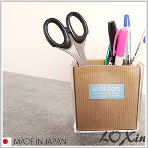 Loxin【SI0157】日本製 透明收納盒 壓克力收納 桌面 收納 筆桶 雜物桶雜物筒 文具收納 406