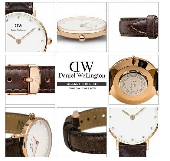 瑞典正品代購 Daniel Wellington 0903DW  玫瑰金鑽  真皮 錶帶 男女錶 手錶腕錶 26MM 3