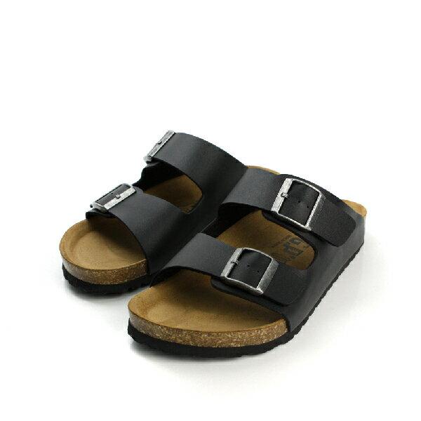 G.P 皮革 輕涼 舒適 透氣 好穿脫 拖鞋 戶外休閒鞋 黑 男款 no516