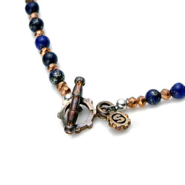 【現貨商品】【STARLINGEAR】復古風格青金石串珠銅製骷髏項鍊(STN038M-CP-2  0593630000) 4
