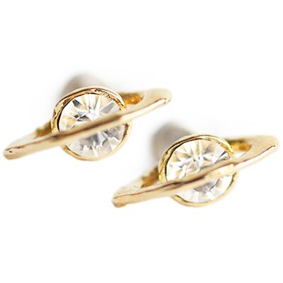 日本Brough Superior 晶燦土星耳環