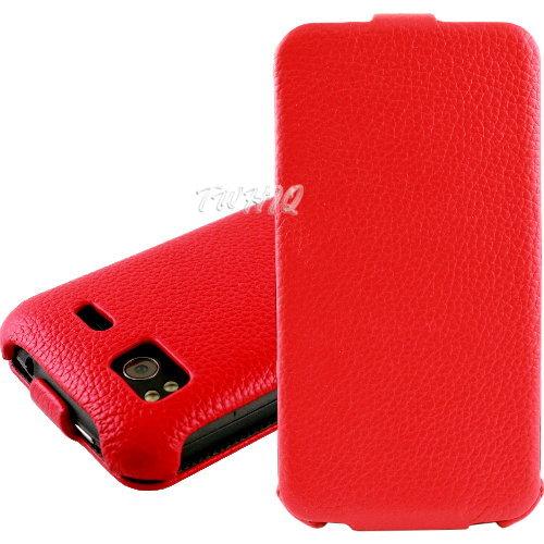 HTC Sensation XE 感動機 XE 荔枝紋 真皮^(牛皮^)下掀式 翻蓋式 手