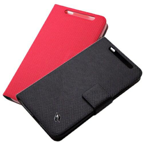 Redberry HTC Desire 501 甜漾簡約 立架式側掀皮套
