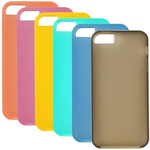 HOCAR Apple iPhone 5 /5S 雙色果漾 冰沙保護殼◆贈送!防水防塵塞◆