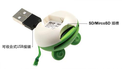 ◆蛙哈哈造型◆嘻哈部落Seehot SD&TF 讀卡機(SH-C323)『免運優惠』