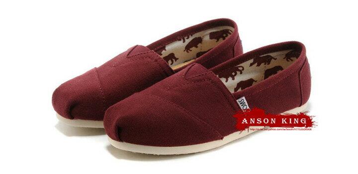 [女款] 國外代購TOMS 帆布鞋/懶人鞋/休閒鞋/至尊鞋 帆布系列  酒紅 2