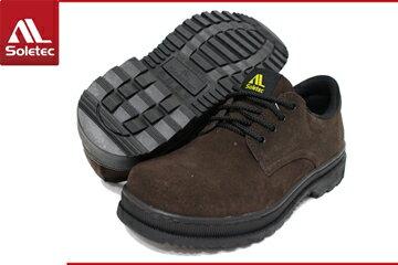 Soletec超鐵安全鞋【皮革製工作休閒兩用鞋】 休閒鞋.防護鞋 .100% 台灣製造-C106505